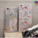iPhone 7 - เคสใส TPU ลายนกฟลามิงโก้ Flamingos