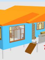 CD01 บ้านตัวอย่าง 11*6.5 เมตร 4 ห้องนอน 3 ห้องน้ำ 1 ห้องนั่งเล่น 1 ห้องครัว 758,000 บาท เพิ่มระเบียงหลังคาคลุม 2*4 ราคา 68,000 รวม 825,000 บาท