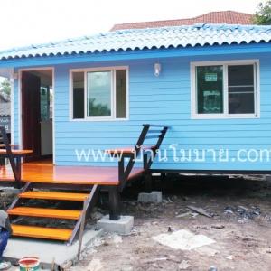 บ้านน็อคดาวน์ ขนาด 4*6 ม. พร้อมระเบียงขนาด 2*3 ตรม. ราคา 290,000 บาท