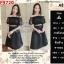 F9720 Set 2 Pieces เสื้อตัวสั้น แขนตุ๊กตา + กระโปรงยาว สีดำ thumbnail 1