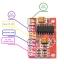 2.5-5v 2x3w ขยายเสียงขนาดเล็ก PAM8403 module red pcb thumbnail 3